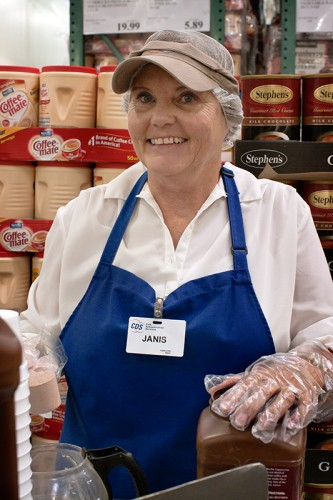 Janis, one of the sample ladies at costco photograph by Jackie Alpers
