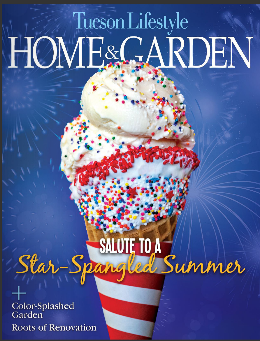 4th of July Ice Cream Cone Magazine Cover
