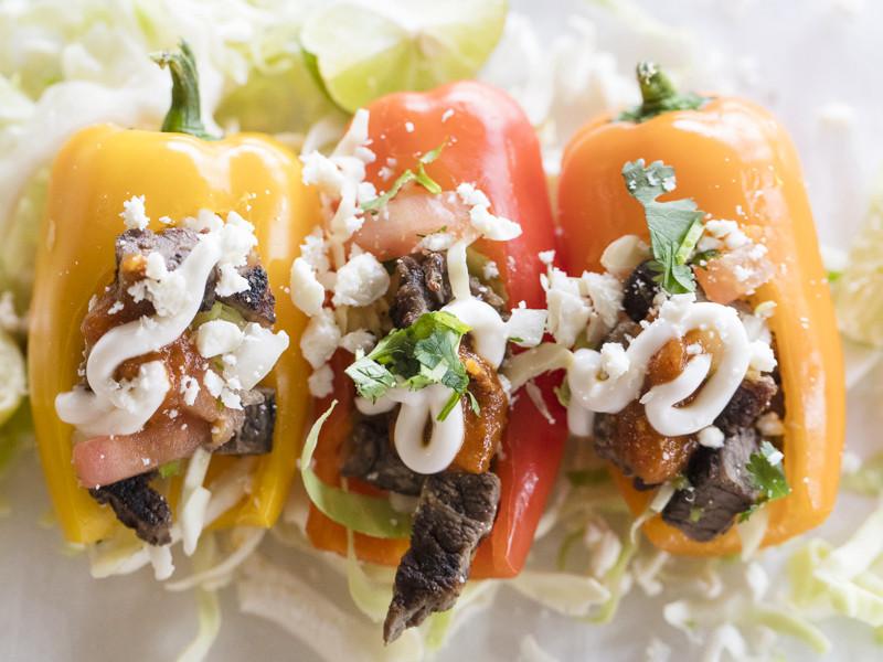 Swseet pepper mini tacos